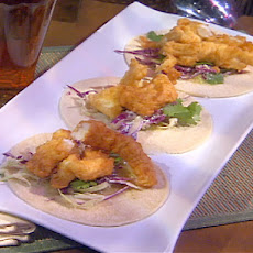 Fish Tacos with Roasted Tomatillo Salsa