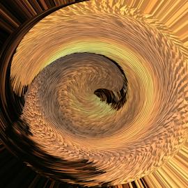 Sunset Swirl by Dorothy Plumb - Digital Art Abstract ( swirling, abstract, orange, swirl, eddy, spiral, whirlpools, hurricane, twirling, abstract art, sunset, whirlwind, sunrise, gold, whirlpool, spiraling, twirl, tornado, golden, eddying )