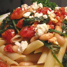 Greek Pasta with Tomatoes and White Beans