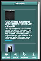 Screenshot of Real Alien News