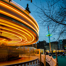 Edinburgh whirlygig by Ben Leng - Abstract Light Painting