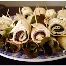 Ham and Fresh Basil Pinwheels