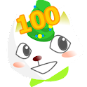 100 boxes training icon