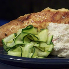 Chicken With Creamy Zucchini and Lime Stuffing
