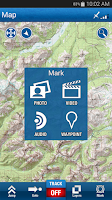 Screenshot of Trimble Outdoors Navigator Pro