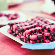 Blackberry Peppermint Chocolate Striped Cookies
