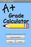 Screenshot of A+ Grade Calculator