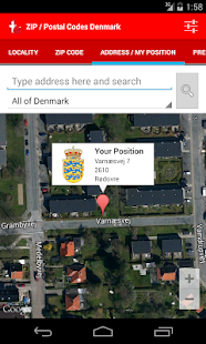 ZIP / Postal Codes Denmark - screenshot