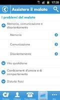 Screenshot of Alzheimer App
