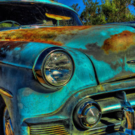 Nelson Blue Too by Nancy Young - Transportation Automobiles ( car, 2013, blue, nevada, vehicle, ghost town, nelson, transportation, rusty, abandoned,  )