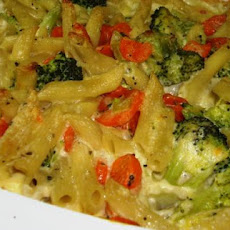 Pasta Veggie Casserole (Can Be Vegan)