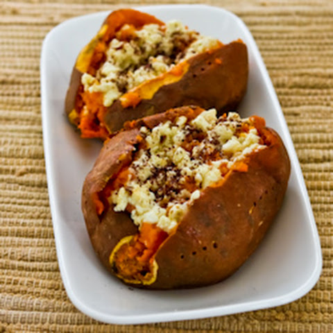 Twice-Baked Sweet Potatoes with Feta and Sumac