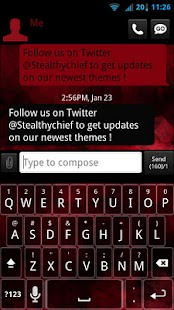GO SMS Evil Red Theme - screenshot