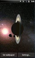 Screenshot of Solar System 3D Wallpaper Lite