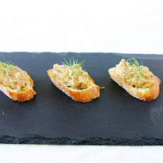Roasted Fennel, Garlic & White Bean Crostini