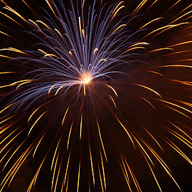 Fireworks by Jeff Duncan - Abstract Fire & Fireworks ( light painting, fourth of july, fireworks, night, light )
