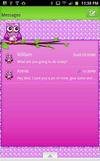 GO SMS - Hootie Owl