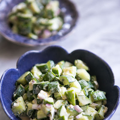 Cucumber Salad with Tahini Dressing