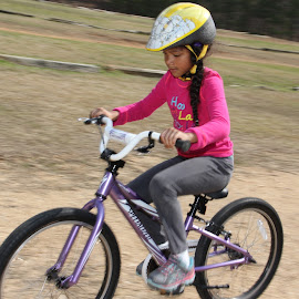 Zoe's bike by Spacer Conrad - Novices Only Sports ( ride, girl, bicycle )
