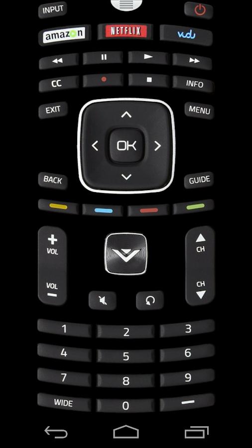 Remote control app for vizio tv