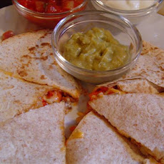 Sweet Red Pepper & Mushroom Quesadillas