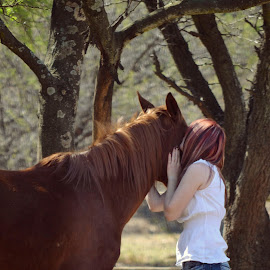 by Silke Jordaan - Novices Only Portraits & People ( natural light, pony, girl, horse, brown )
