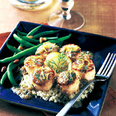 Seared Scallops with Lemon and Dill