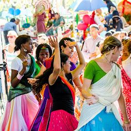 by Vaibhav Jain - News & Events World Events ( rath yatra, girls, garba dance, jagannath rath yatra, garbha, saree, dance, jagannath, , the mood factory, mood, lighting, sassy, pink, colored, colorful, scenic, artificial, lights, scents, senses, hot pink, confident, fun, mood factory  )