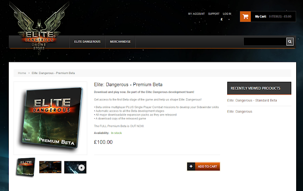 "Braben admits the pricing of the Elite: Dangerous alpha and beta looks ""a bit bad"""