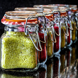 Sand jars by Garry Chisholm - Artistic Objects Other Objects ( colour, garry chisholm, sand, glass, jars )