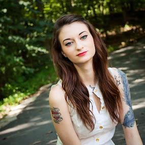 Nikki by Dayton Brown - People Portraits of Women ( canon, flash, girl, tattoos, outdoor, polarizing filter, pretty,  )