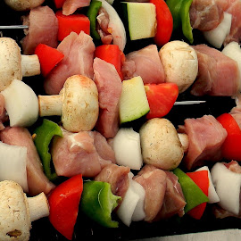 Kabobs on the grill by Liz Hahn - Food & Drink Meats & Cheeses
