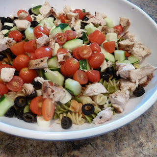 Farmer's Market Pasta Salad with Grilled Chicken