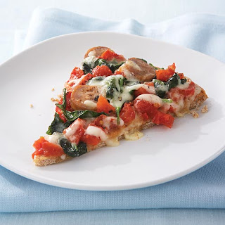 Spinach & Chicken Sausage Pizza