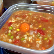 Beef Barley Veggy Soup - Crock Pot