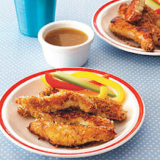 Crispy Chicken Strips with Honey Mustard