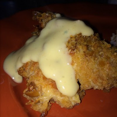 Ritzy Parmesan Cream Cheese Breaded Chicken