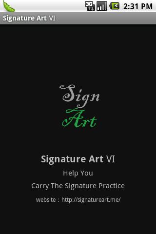 My Artistic Signature Ⅵ