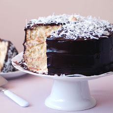 Coconut Layer Cake with Chocolate Glaze
