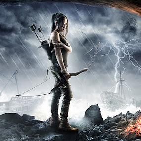 TOmb Raider by Bang Munce - Digital Art People ( super, games, hero, tomb raider, video games, survival, cave, women, people, composite, lara croft, character )
