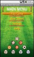 Screenshot of World Cup Match Ball