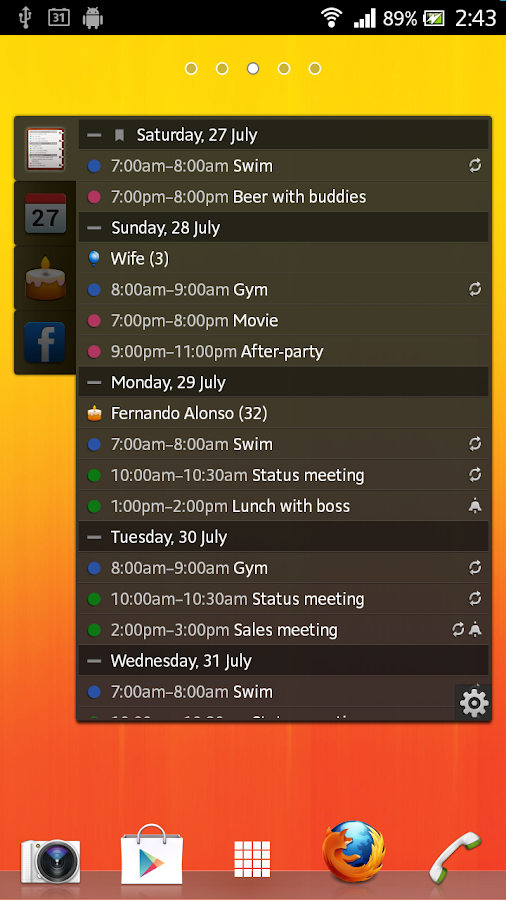 All-in-One Agenda widget Screenshot 1