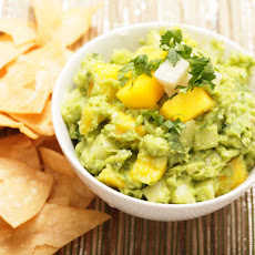 Guacamole with Jicama and Mango