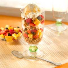 Fruit, Ice Cream & Granola Parfaits