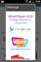 Screenshot of WnetPlayer - Radio Wnet