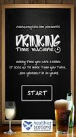 Screenshot of Drinking Time Machine