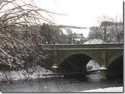 tweed bridge in snow
