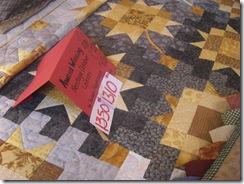 Award winning quilt $1310