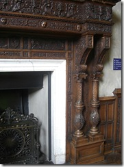 newbattle abbeyfront hall fireplace detail