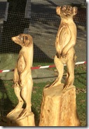woodfest chain saw meercats